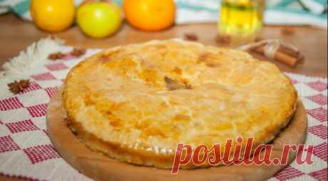 Яблочный пирог с лимоном и корицей — Готовим дома