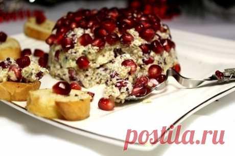 Праздничная закуска с киноа, гранатом, голубым и сливочным сырами – пошаговый рецепт с фотографиями