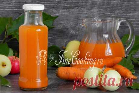 Яблочно-морковный сок на зиму - рецепт с фото