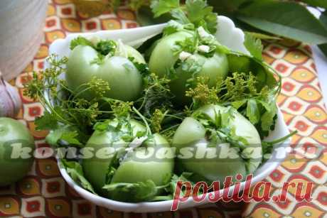 Green soaked tomatoes recipe