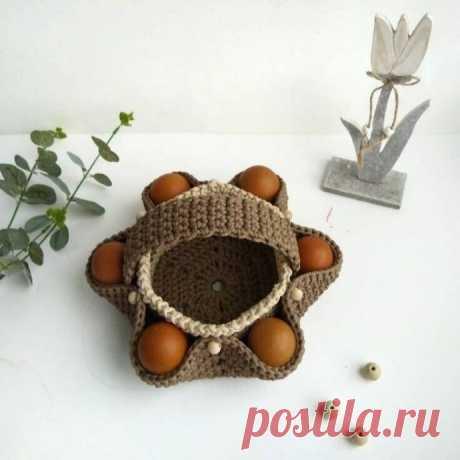 Красивая корзинка для яиц, милое украшение для дома