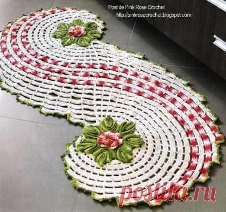 Спиральный коврик крючком с цветами. Как связать коврик крючком | Я Хозяйка