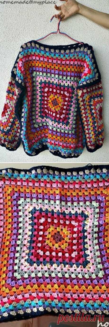 56 Ideas For Crochet Granny Square Cardigan Pattern Free