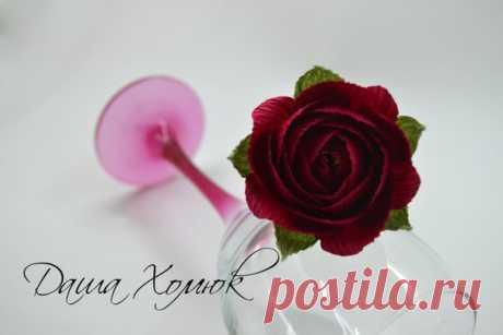 Шикарная роза. Фото мастер класс розы от Даши Хомюк.