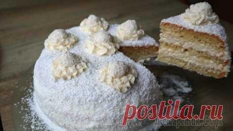 Кокосовый пломбир! Королевский торт – достоин новогоднего стола!