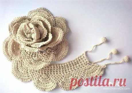 Вязание объемной розы  Схемы вязания здесь https://www.odnoklassniki.ru/luchshiesk/topic/62499362968912