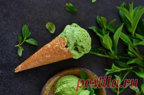 Базиликово-шпинатное мороженое — Sloosh – кулинарные рецепты