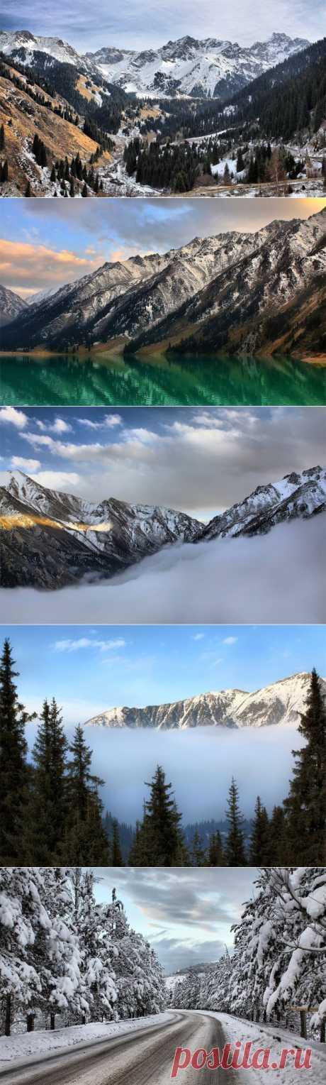 Зима в Заилийском Алатае - Природа - Приколы - bigmir)net