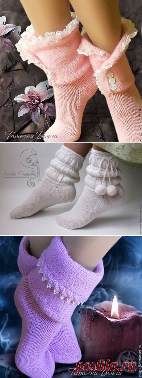 Very beautiful socks. Ideas for fans of needlework.
