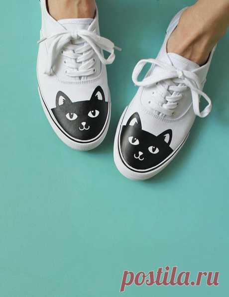 Кеды с котиками (Diy)