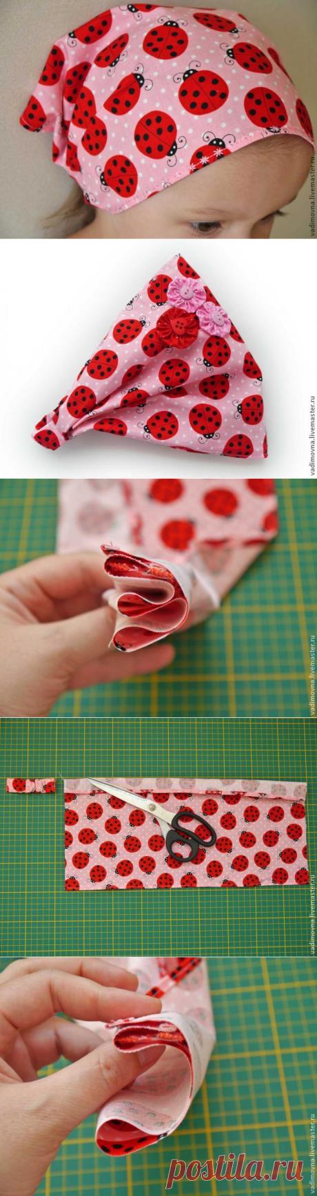 Шьем косынку на резинке - Ярмарка Мастеров - ручная работа, handmade
