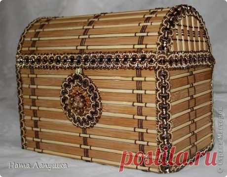 Сундук из бамбуковой салфетки. Мастер-класс