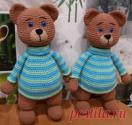 Вязаный медведь Рома крючком | Hi Amigurumi