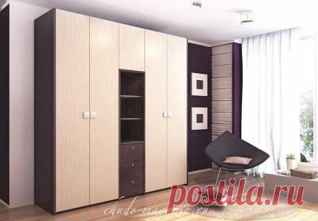 Белый шкаф в прихожую с распашными дверями в современном стиле
