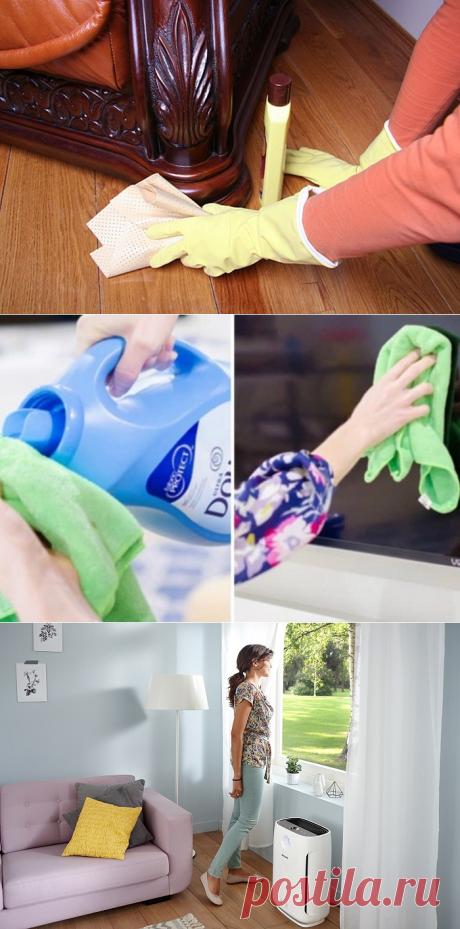 7 ленивых способов борьбы с пылью, которые сохранят время и силы