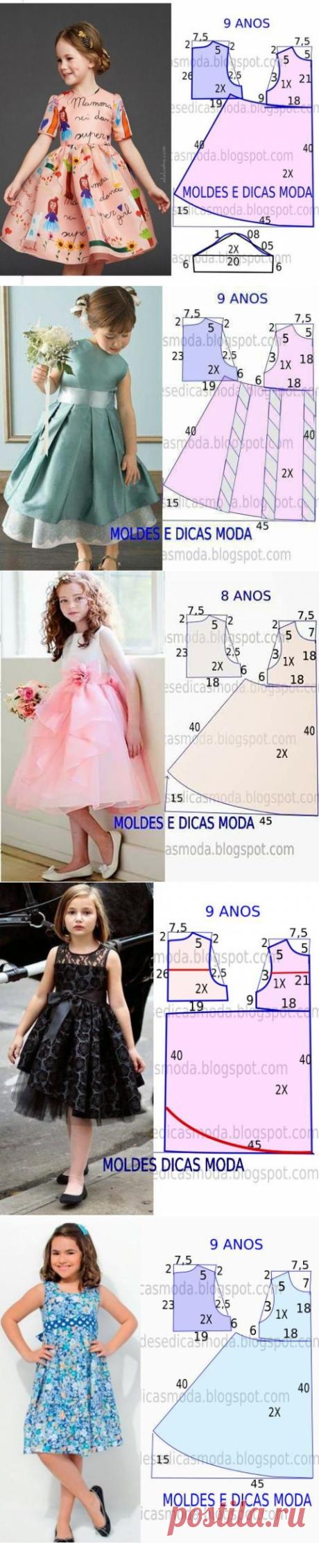 10 выкроек платьев для девочек — HandMade