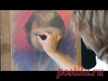 Рисование портрета пастелью от Татьяны Артыковой. Часть 1..