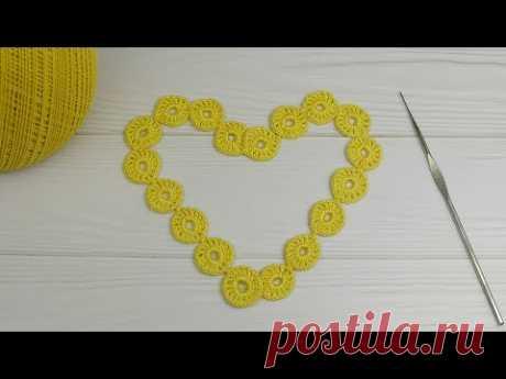 ЛЕНТОЧНОЕ КРУЖЕВО колечки ПРОСТОЕ ВЯЗАНИЕ КРЮЧКОМ для начинающих мастер-класс  How to Crochet Lace