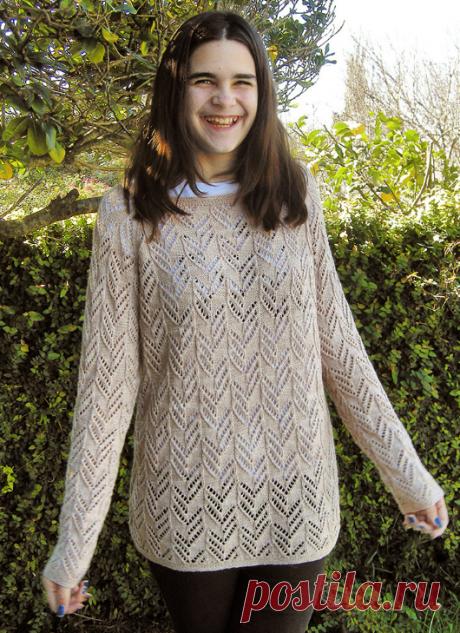 Вязаный пуловер IrinasChoice | ДОМОСЕДКА