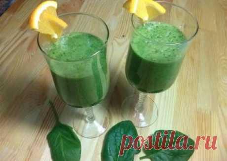 Зелёный смузи с бананом и апельсином Автор рецепта Марина - Cookpad