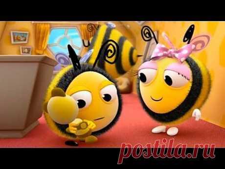 Мультфильмы для Детей - Пчелиные истории. Плюшевый Мишка База - YouTube