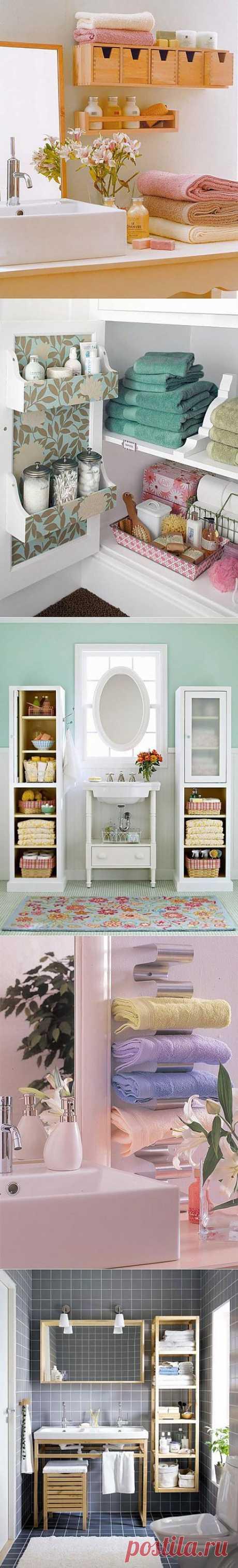 Самые лучшие идеи хранения вещей в ванной комнате | Интерьер и Дизайн
