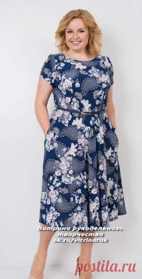 Летние платья с простыми выкройками для пышных дам           Источник➝ Читай дальше на сайте. Жми подробнее ➡