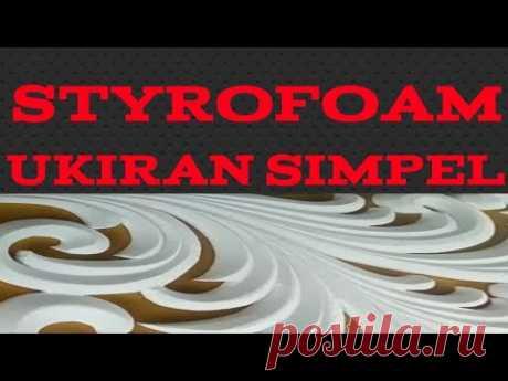 cara mengukir styrofoam menjadi betuk pohon