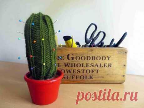 Игольница в виде кактуса может быть просто украшением дома.
