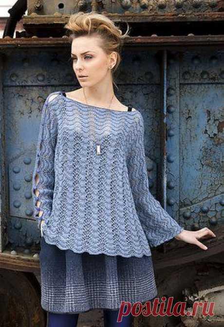 Aжурный пуловер из Vogue Knitting!.