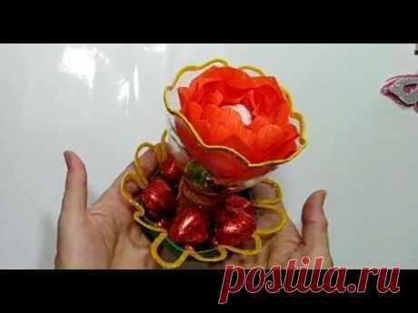 Сладкий сувенир на день учителя поделка в детский сад на 8 марта легко бюджетно подарки DIY