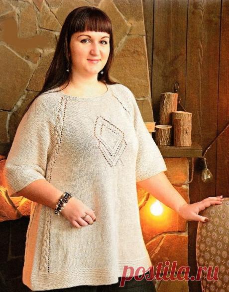 Шикарная туника спицами | Модное вязание | Яндекс Дзен
