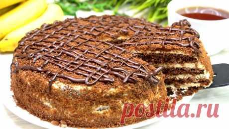 Шоколадный торт в микроволновке | Готовим с Калниной Натальей | Яндекс Дзен