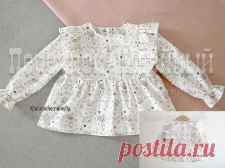Выкройка детской блузки с крылышками - Переулок швейный