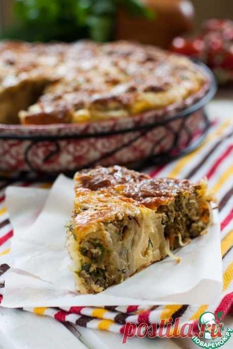Слоеный пирог с фаршем и капустой – кулинарный рецепт