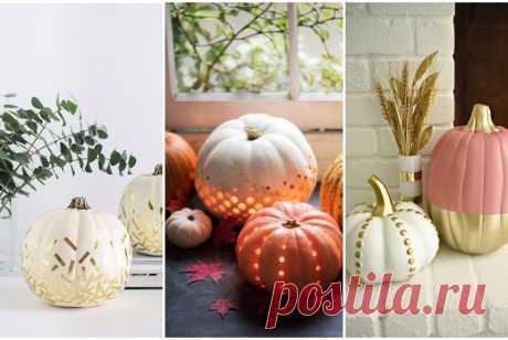 Тыква на Хэллоуин: 9 интересных идей для декора Фонарь Джек, красивый светильник, зверята, ваза, открытка и еще множество идей того, как можно использовать тыкву на Хэллоуин. Читайте нашу инструкцию и вдохновляйтесь!
