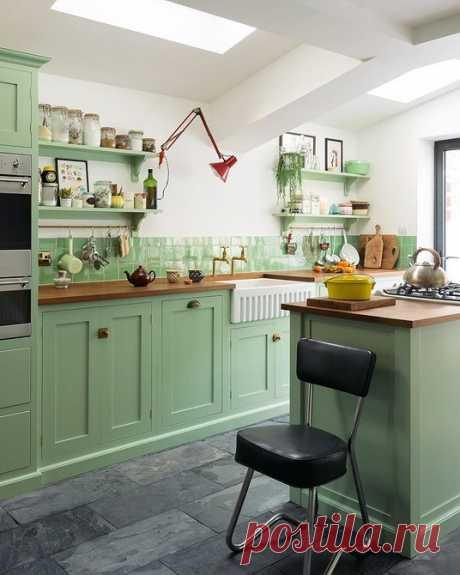 Кухня фисташкового цвета: 70 идей дизайна интерьера от IVD.ru