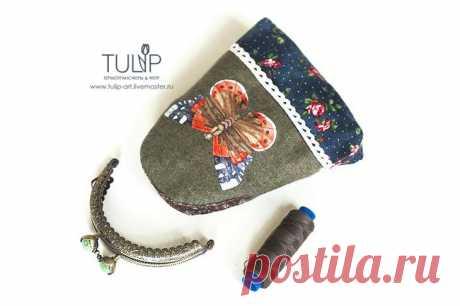 Мастер-класс: как сделать сумочку-кошелек с фермуаром