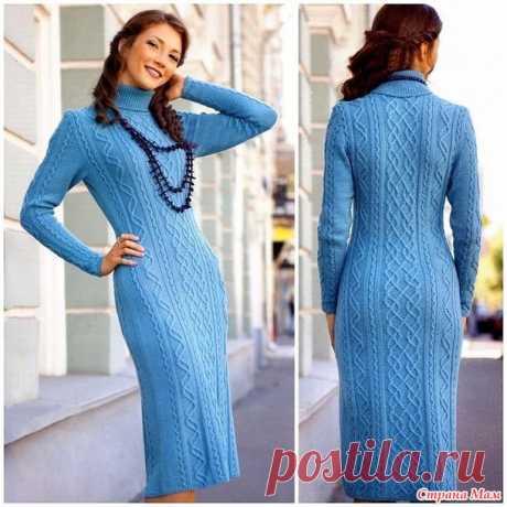 . Теплое платье - Вязание - Страна Мам