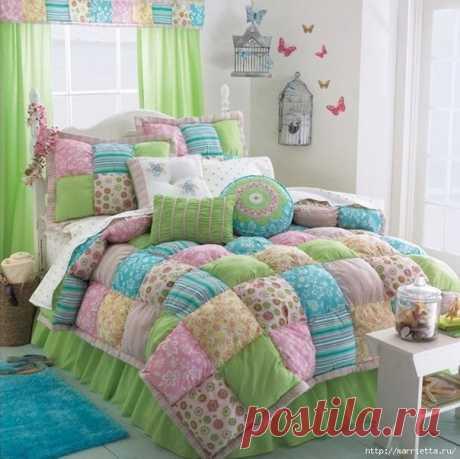 Тёплое лоскутное одеяло