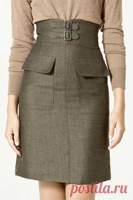 Лучшая ставка: Зара для похудения с высокой талией юбка порез