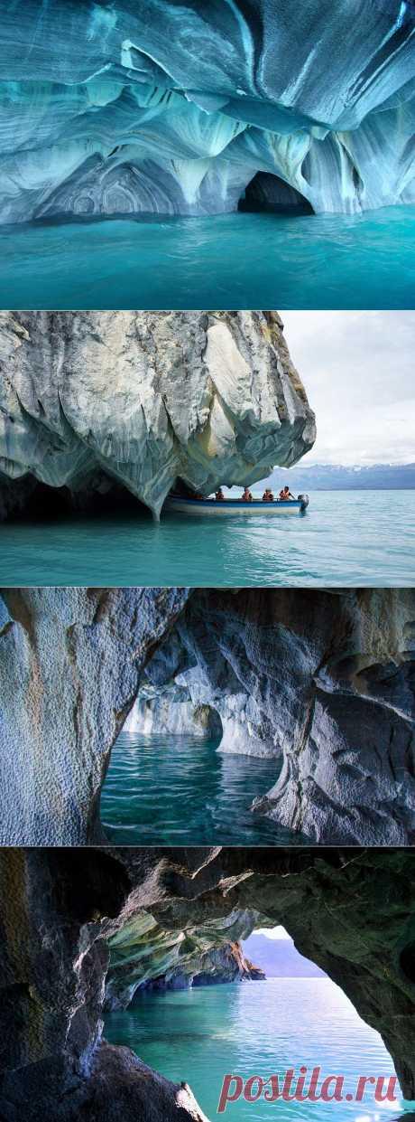 Мраморные пещеры Чиле-Чико, Чили (26 фото)