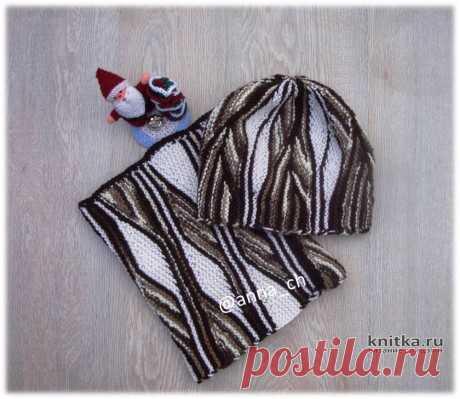 Свинг вязание: шапка и снуд спицами от Анны Черновой, Вязание для женщин