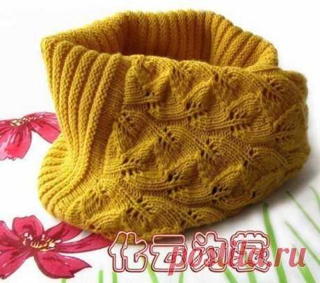 La bufanda-collera muy hermosa y caliente