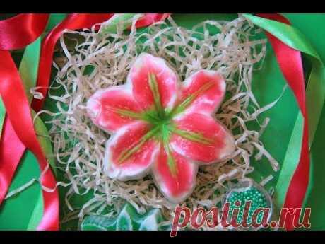Мыло Лилия! Мыльные цветы! Заливка с кисточкой | Мыловарение | Мыло своими руками дома