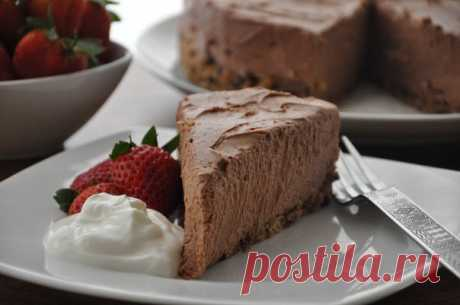 Dietary chocolate cheesecake without pastries - the real rescue for keeping a figure!