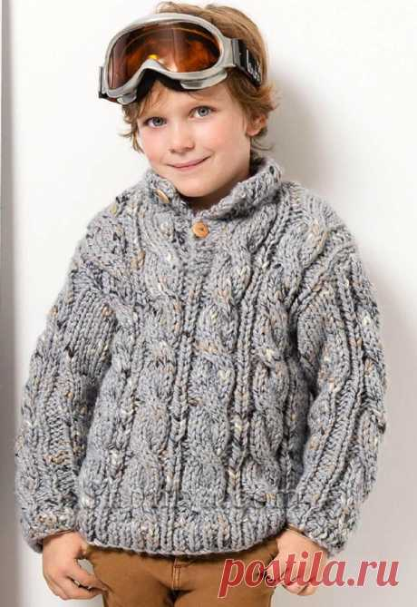 Пуловер с фантазийным узором для мальчика - SHPULYA.com