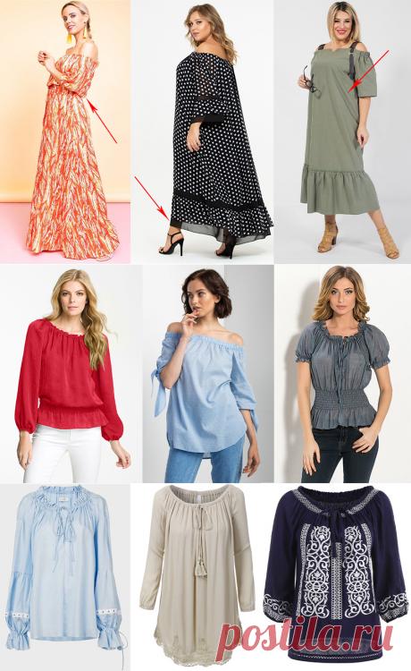 Блузки и платья в крестьянском стиле