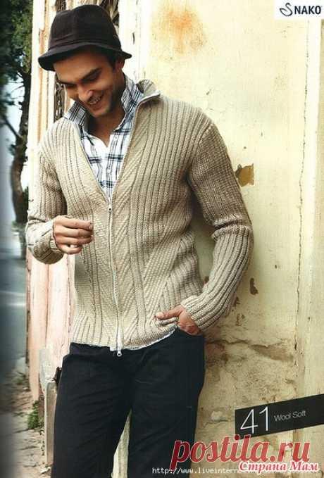 Модели для Мужчин (спицы) - Вязание - Страна Мам
