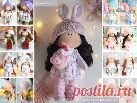 Bunny Doll Handmade Interior Decor Doll Tilda Cloth Doll | Etsy Hello, dear visitors! This is handmade tilda doll created by Master Elina (Ufa, Russia). Doll is made by Order. Order processing time is 5-7 days.  All dolls on the photo are mady by artist Elina. You can find them in our shop searching by artist name. Here are all dolls of artist Elina: